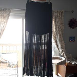 Zara Basic pleated sheer maxi mini underskirt